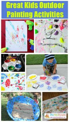 Great Kids Outdoor Painting Activities