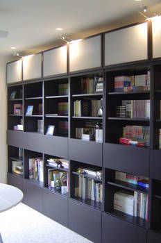 Ikea besta bookcase ideas by office shelf storage bookshelf hack office bookshelves home decor store name ideas Office Shelf, Ikea Office, Home Office, Cupboard Storage, Storage Shelves, Shelving, Billy Ikea, Hacks Ikea, Workspace Design