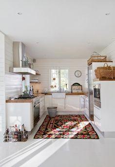 persisk matta i köket