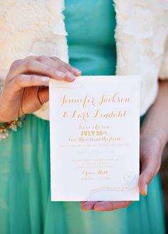 Glamorous Mint & Gold Wedding Inspiration