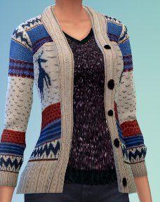 Tops and dress at Enjoli Sims via Sims 4 Updates