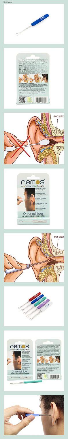 REMOS Ohrenschlinge Edelstahl rostfrei zum Ohrenschmalz entfernen 7 cm lang blau - 14fi