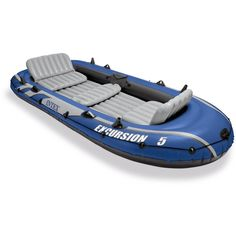 Intex Excursion 5 Person Inflatable Boat Set w/ 2 Oars, Air Pump & Bag Pack) Intex Excursion 5 Person Inflatable Boat Set w/ 2 Oars, Air Pump & Bag Pack) - Unique Baby Bathing Best Inflatable Boat, Inflatable Kayak, Inflatable Cooler, Kayak Fishing, Fishing Boats, Fishing Pliers, Fishing Shirts, Fishing Apparel, Saltwater Fishing