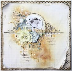 It's all about the blooms this month over at The Colour Room . The stunning Manor House Creations are sponsoring us with their amazing flo. Love Scrapbook, Mixed Media Scrapbooking, Vintage Scrapbook, Scrapbook Sketches, Scrapbook Page Layouts, Scrapbook Cards, Scrapbook Examples, Heritage Scrapbooking, Scrapbook Designs