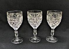 Bohemia Crystal Cut Glass Sherry Port Glasses Set Of 4 Retro Bar Drinks