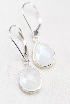 earrings sterling silver moonstone