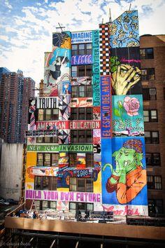 Murals Street Art, Street Art News, Graffiti Murals, 3d Street Art, Street Art Graffiti, Mural Art, Street Artists, New York Street Art, Usa Street