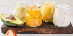 13 Healthy Salad Dressing Recipes To Make At Home Greek Salad Recipes, Salad Dressing Recipes, Salad Dressings, Healthy Salads, Healthy Recipes, Healthy Food, Chipotle Ranch Dressing, Citrus Vinaigrette, Fat Free Milk