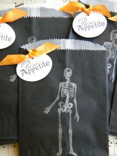 Halloween bolsa de regalo cristal negro... por LittlePumpkinPapers