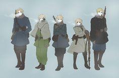 Hetalia-Nordics-Denmark,Norway,Iceland,Finland,Sweden