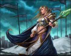 Jaina Proudmoore - the most powerful mage the Alliance has to offer - stands… High Fantasy, Fantasy Women, Fantasy Art, Art Warcraft, World Of Warcraft, Warcraft Funny, Fantasy Characters, Female Characters, Jaina Proudmoore