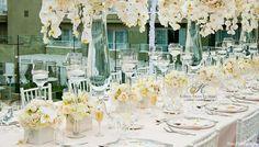 glamorous blush toned wedding ~ bridal head table