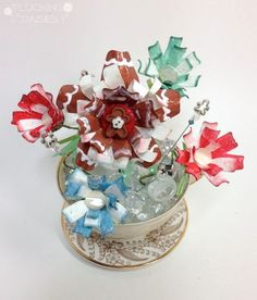 Handmade Holiday Gift Tutorial: Tea-cup Paper Flowers