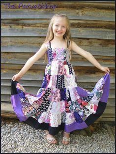 Maxi robe gitane boheme patchwork hippie boho maxi dress de la boutique theparvatishop sur Etsy