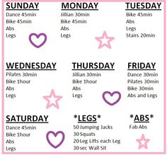 My Workout Schedule for February #diet #weightloss #burnfat #bestdiet #loseweight #diets