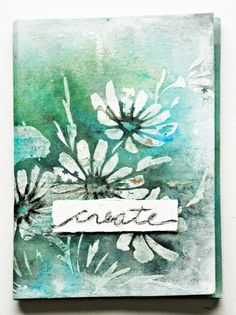Video and supply list included in how to create this lovely journal cover(canvas)