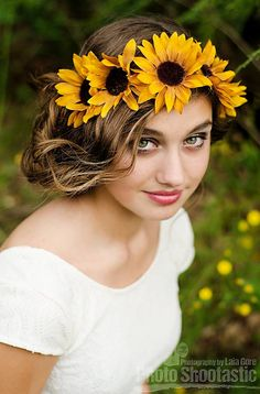 Sunflower flower crown $10 https://www.facebook.com/smalltownflowercrowns