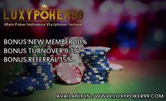 Luxypoker99 merupakan sebuah situs yang menyediakan sebagai bandar poker online indonesia untuk memudahkan anda melakukan permainan via iphone terbaik.