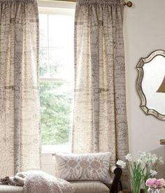 Parisian Note Lined Rod Pocket Curtains $259.95 - $279.95