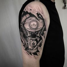 Harley Davidson Engine http://tattoo-ideas.com/harley-engine/