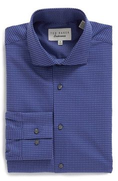 f8ad077828173 Ted Baker London  Helmer  Trim Fit Check Dress Shirt available at   Nordstrom Slim