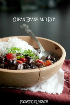 Cuban Beans and Rice | FoodsOfOurLives.com