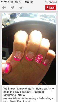 Nails pink zebra is what I like :) :) :)