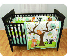 Garanimals In The Woods 3 Piece Crib Set