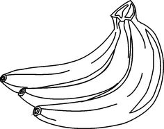 Bananas printed on yellow card stock for a bulletin board Fruit clipart Clip art Clipart black and white