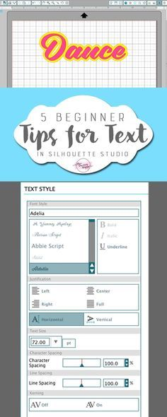 These tips are GREAT for Silhouette CAMEO beginners ! The tutorial shows you everything you need to know to design projects and crafts with text on them in Silhouette Studio.