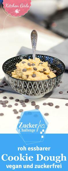 Unser Rezept für zuckerfreien und veganen Cookie Dough, den man roh essen darf!