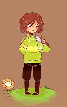 """""""Hi, I'm Chara. The nice one not the demon one. I can have a bit of a cruel streak but most of the time I'm nice, make puns and narrate what's going on like I did during Frisk's pacifist run. I like dogs and reading, I don't like humanity. I am looking foreward to meeting all of you"""""""