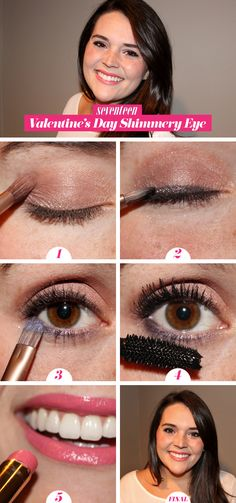 Valentine's Day Shimmery Eye How-To