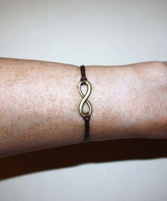 Infinity Wish Bracelet I  Antique Brass by BelieveInGoodKarma, $6.50