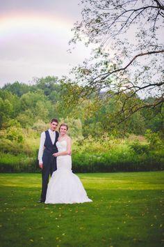 Cleveland & Akron Ohio Wedding Photography, rainbow after the rain.