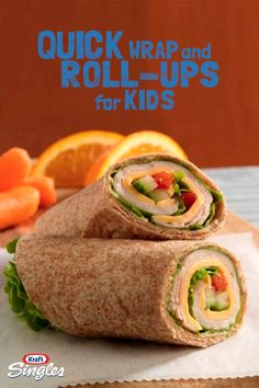 Looking for a wholesome school lunch idea? These crunchy roll-ups only take 5 minutes to make. Add colorful sliced veggies and your kids won't notice they're eating something that's good for them.