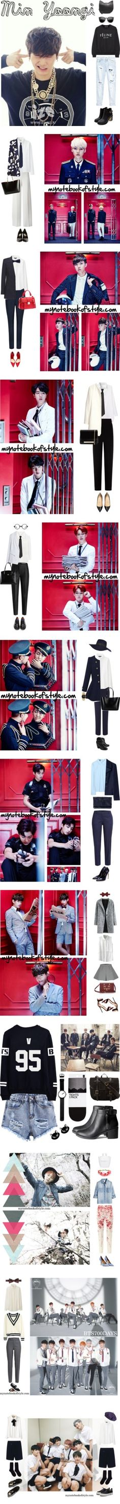 """BTS sets"" by mynotebookofstyle ❤ liked on Polyvore"