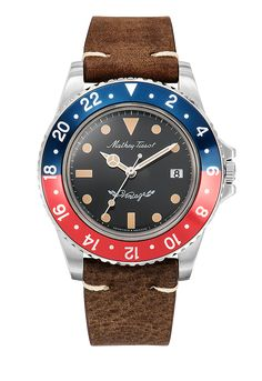 Rolly Vintage Automatic men's watch with date counter and leather band Rolex Watches, Watches For Men, Sapphire Bracelet, Watch Brands, Modern Classic, Stainless Steel Case, Custom Design, Dating, Quartz