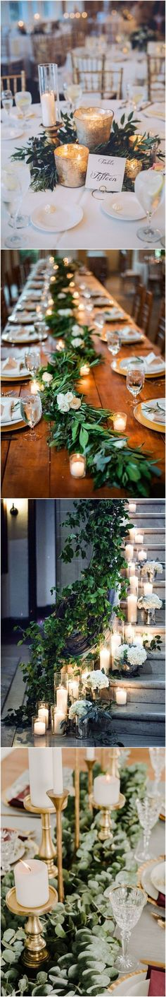 Diy Wedding Ideas 20 Stuning Wedding Candlelight Decoration Ideas You Will Love See more: Spring Wedding, Diy Wedding, Rustic Wedding, Dream Wedding, Wedding Day, Wedding Reception, Wedding Entrance, Reception Table, Woodland Wedding
