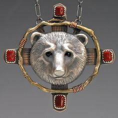 Bear Totem Jewelry, Handcrafted Silver Jewelry, Animal Totems