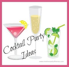 Here are some cocktail party ideas to help you host a fun and sophisticated event. Just mix some great drinks, tasty appetizers, desserts and good friends.