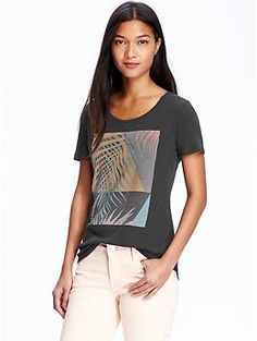 Womens Tropical-Graphic Tees