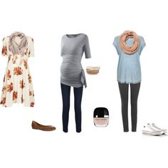 Love the idea of three different outfits - feminine and flawy, casual and trendy and casual and subtle.