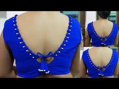 Designer look beautiful V neck blouse design Cotton Saree Blouse Designs, Neck Designs For Suits, Stylish Blouse Design, Blouse Back Neck Designs, Choli Designs, Fancy Blouse Designs, Bridal Blouse Designs, Designer Blouse Patterns, Kurti Designs Party Wear