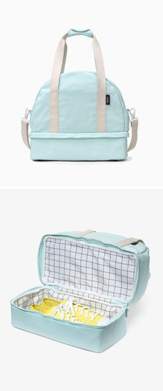 Weekender bag with shoe compartment; brilliant! ...but isn't it just a bowling bag?