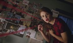 "S3 Ep18 ""Riddled"" - Lydia searches for answers in Stiles' bedroom."