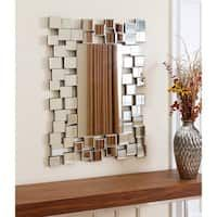Abbyson Living Aiden Rectangle Wall Mirror - Far from your typical wall mirror, the abstract Abbyson Aiden Rectangle Wall Mirror is a work of art that will always ignite a conversation.The multiple square sections of this Abbyson Living Aiden rectang Silver Wall Mirror, Rustic Wall Mirrors, Contemporary Wall Mirrors, Mirror Art, Round Wall Mirror, Modern Wall, Mirror Collage, Mirror Bedroom, Mirror Ideas