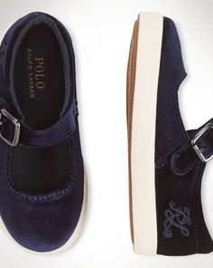 Velour Sadie Mary Jane - Toddler Preschool Shoes - RalphLauren.com $45
