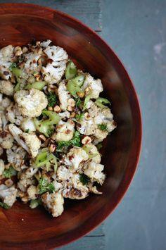 Roasted Cauliflower & Hazlenut Salad from the Jerusalem Cookbook