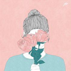 #진짜봄이다  #illustration #drawing #artwork #pink #spring #flower  #일러스트 #드로잉 #그림 #꽃 #핑크 #봄